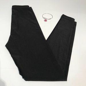 AMERICAN APPAREL Black Nylon Metallic Leggings S